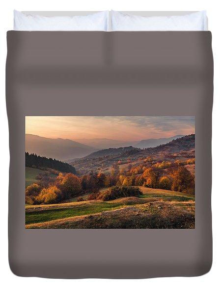 Rhodopean Landscape Duvet Cover