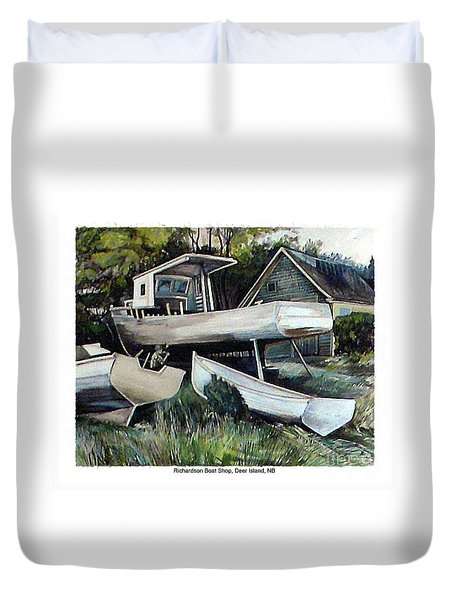 Richardson Boat Shop Duvet Cover