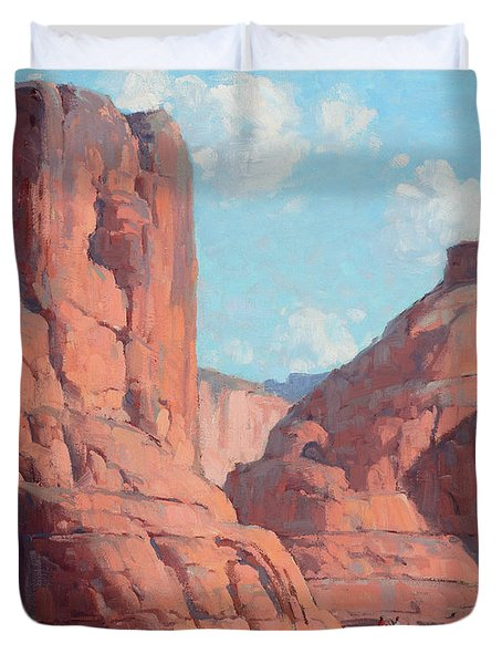 Riders In Canyon De Chelly Duvet Cover
