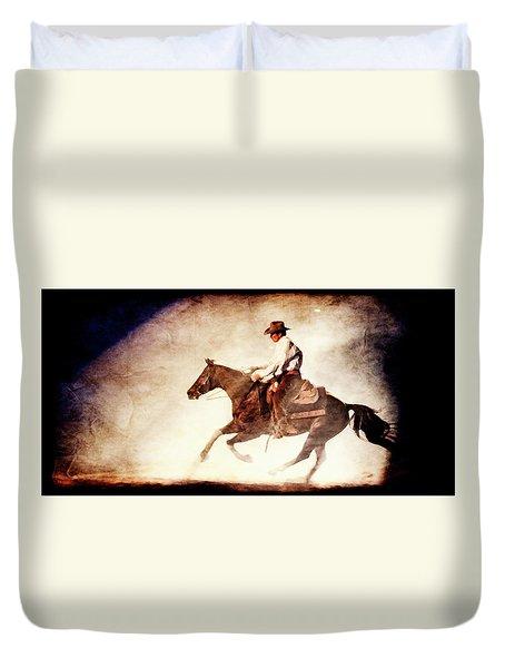 Riding The Light Duvet Cover