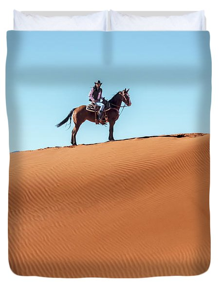 Riding The Red Sand Duvet Cover