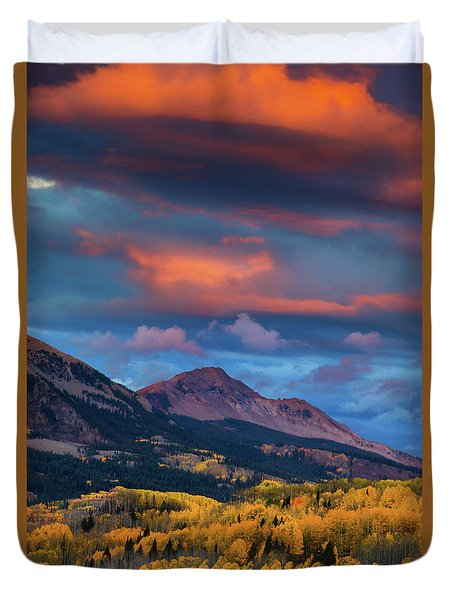 Rising Color  Duvet Cover