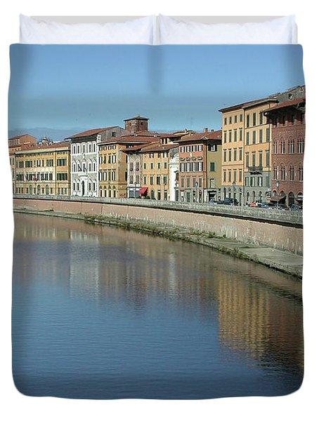 River Arno Pisa Duvet Cover