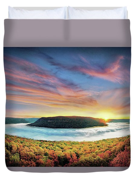 River Of Fog Duvet Cover