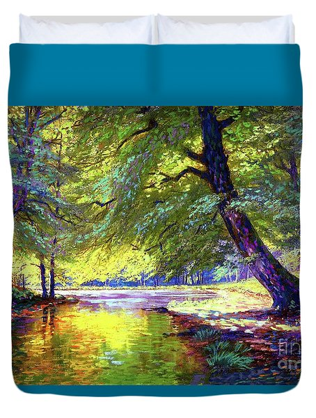 River Of Gold Duvet Cover