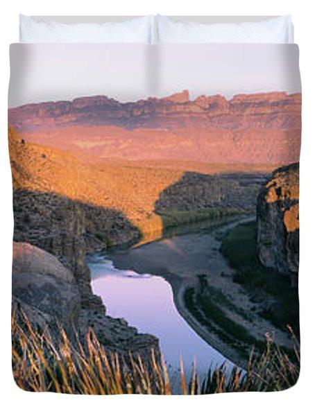 River Passing Through Mountains, Big Duvet Cover