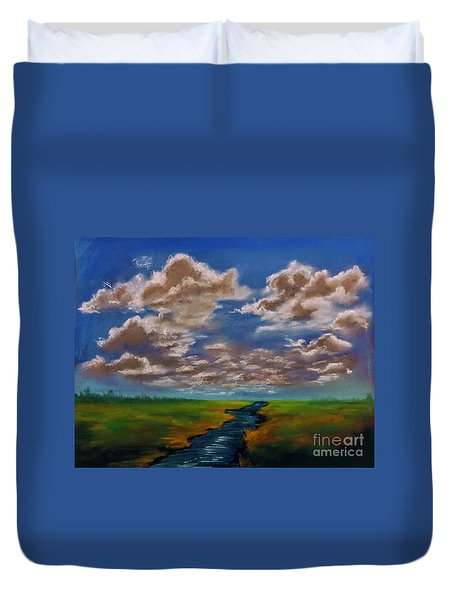 River To Nowhere Duvet Cover