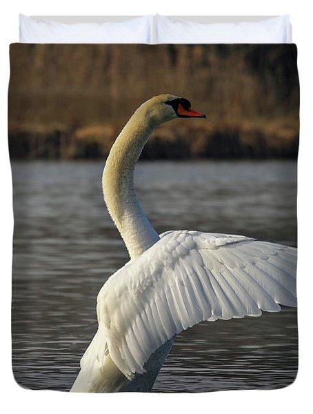 River Waal Swan Duvet Cover