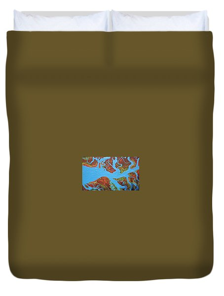 Rivers On The Cape York Duvet Cover