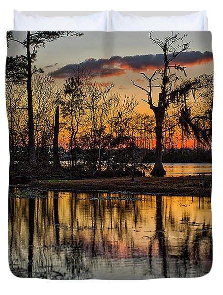 Riverside Sunset Duvet Cover