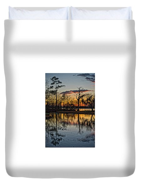 Riverside Sunset Duvet Cover