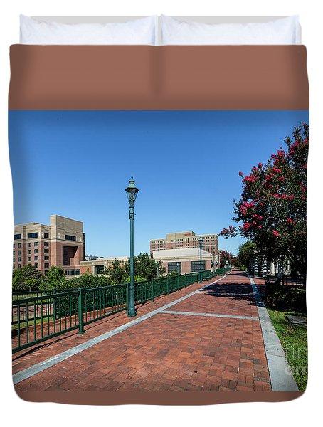 Riverwalk Downtown Augusta Ga Duvet Cover