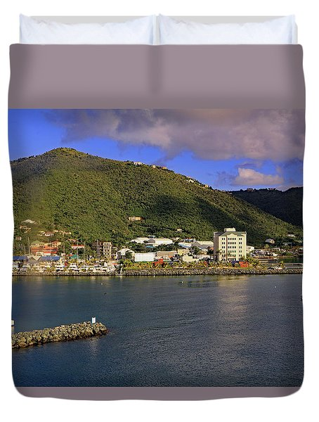 Duvet Cover featuring the photograph Road Harbour by Tony Murtagh