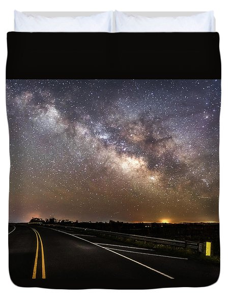 Duvet Cover featuring the photograph Road To Milky Way by Russell Pugh