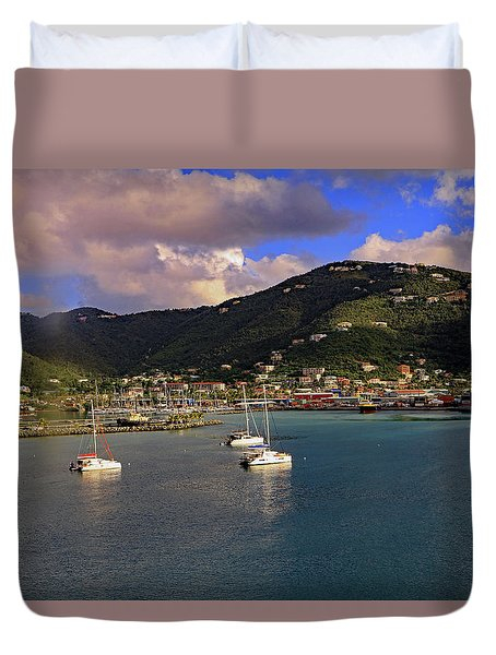 Duvet Cover featuring the photograph Road Town  by Tony Murtagh