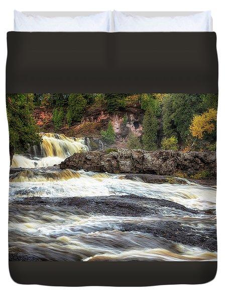 Roaring Gooseberry Falls Duvet Cover