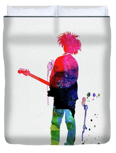 Robert Smith Watercolor Duvet Cover