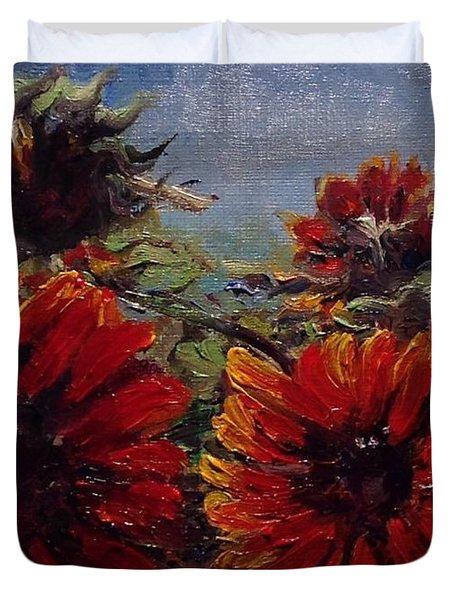 Robin's Banquet Duvet Cover