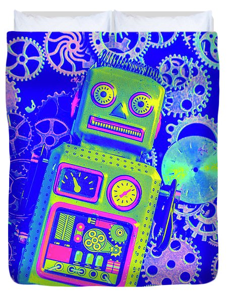 Robot Reboot Duvet Cover