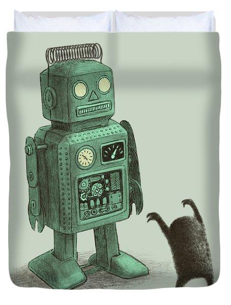 Robot Vs Alien Duvet Cover