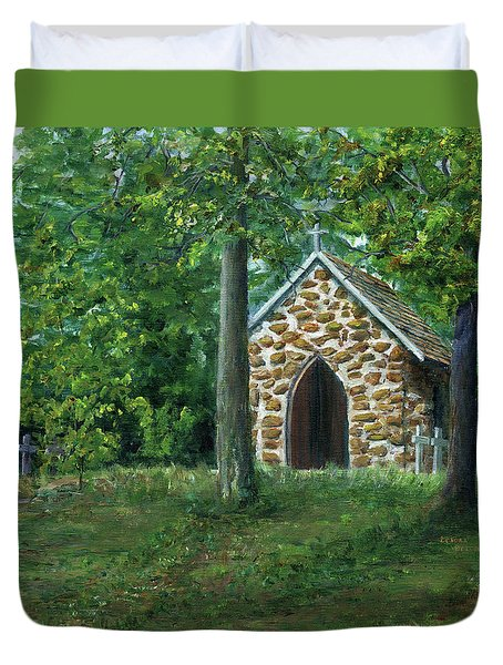 Rock Chapel Near Mansfield, Louisiana Duvet Cover
