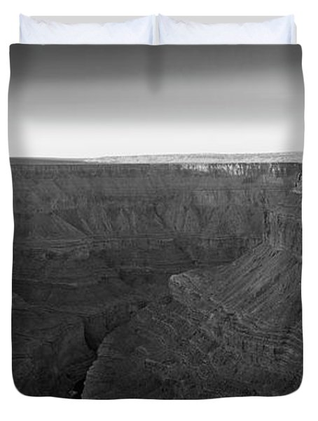 Rock Formations On The Edge Duvet Cover