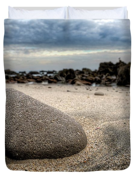 Rock On Beach Duvet Cover