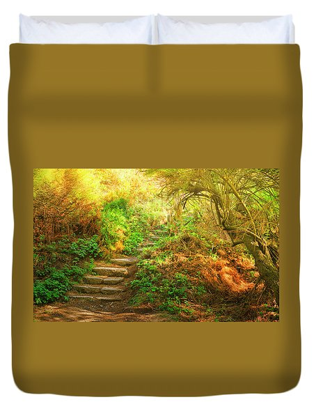 Rock Stairs Duvet Cover
