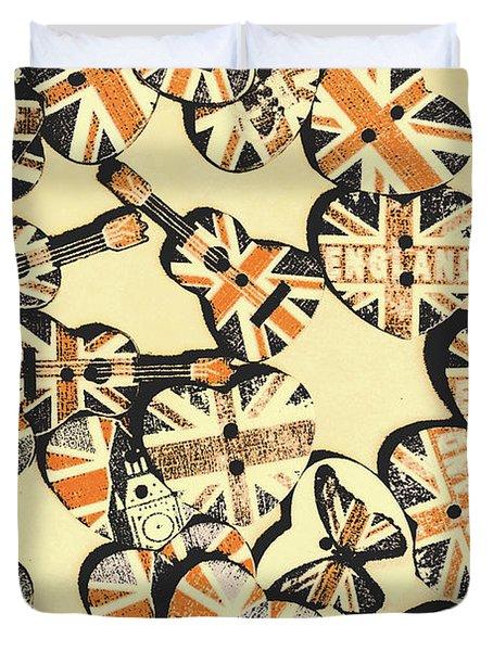 Rocking Old England Duvet Cover