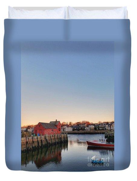 Rockport Massachusetts  Duvet Cover