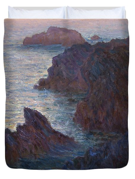 Rocks At Belle-lle, Port-domois, 1886 Duvet Cover