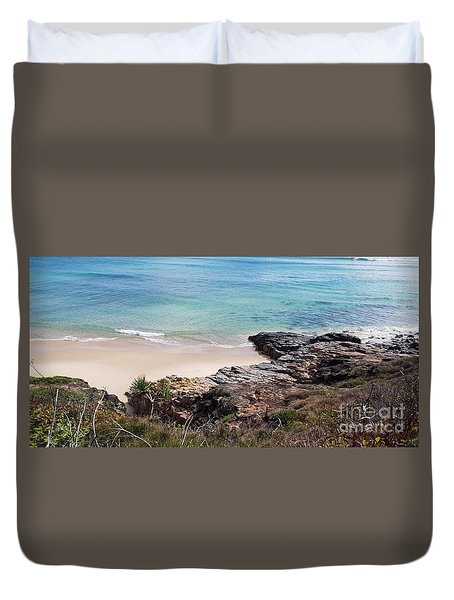 Rocks Sand And Water  Duvet Cover