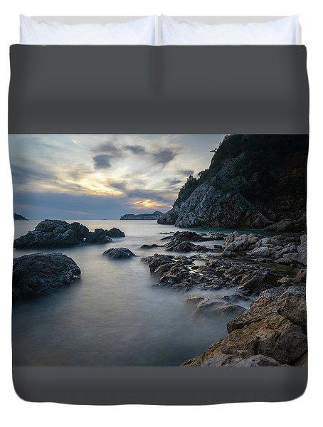 Rocky Coast Near Dubrovnik Duvet Cover