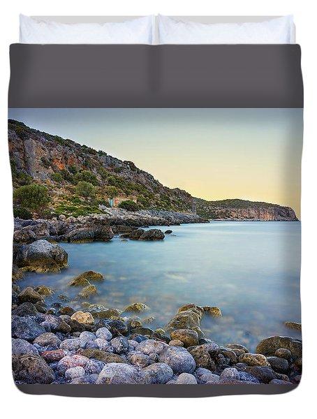 Rocky Coast Near Monemvasia Duvet Cover