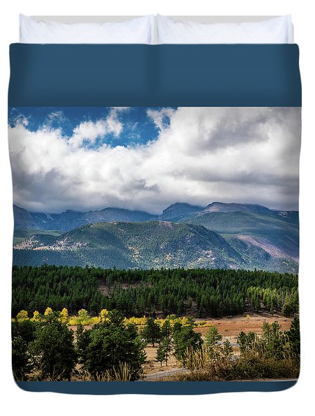 Duvet Cover featuring the photograph Rocky Foothills by James L Bartlett
