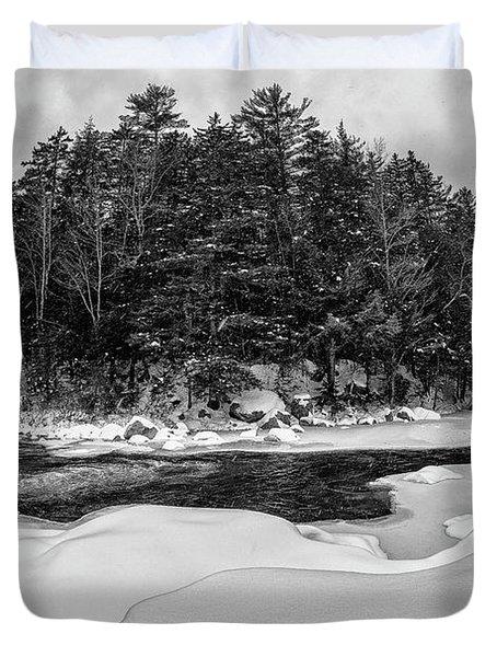 Rocky Gorge N H, River Bend 1 Duvet Cover