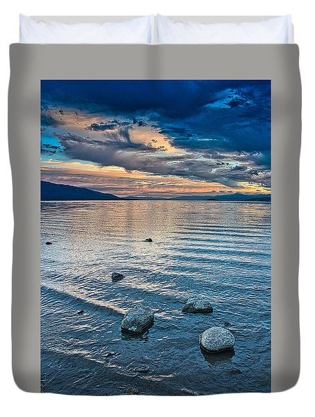 Rocky Lake Vista Duvet Cover
