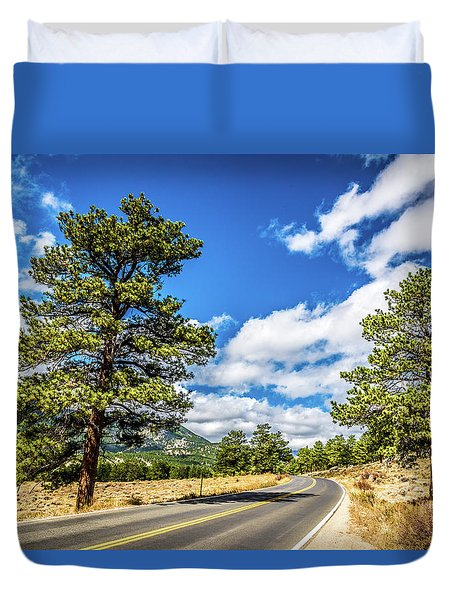 Duvet Cover featuring the photograph Rocky Mountain Highway by James L Bartlett