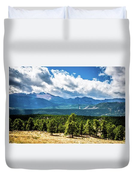 Duvet Cover featuring the photograph Rocky Mountain Np I by James L Bartlett