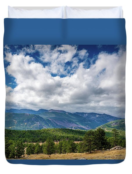 Duvet Cover featuring the photograph Rocky Mountain Np II by James L Bartlett