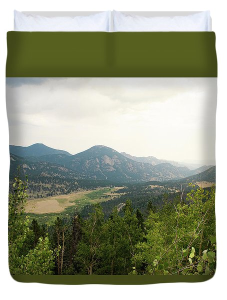 Rocky Mountain Overlook Duvet Cover