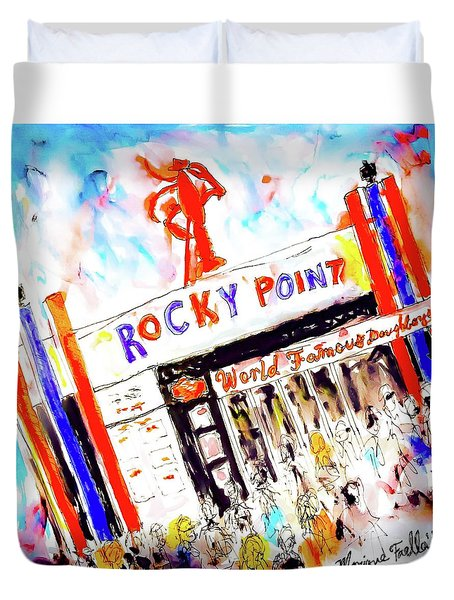 Rocky Point Chowder House Duvet Cover