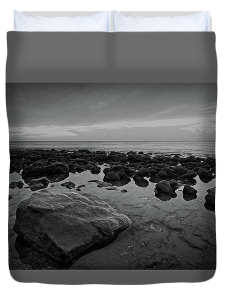 Rocky Shore Duvet Cover