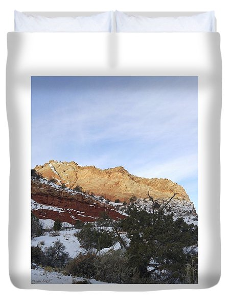 Rocky Slope Duvet Cover