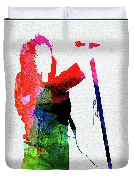 Rod Stewart Watercolor Duvet Cover