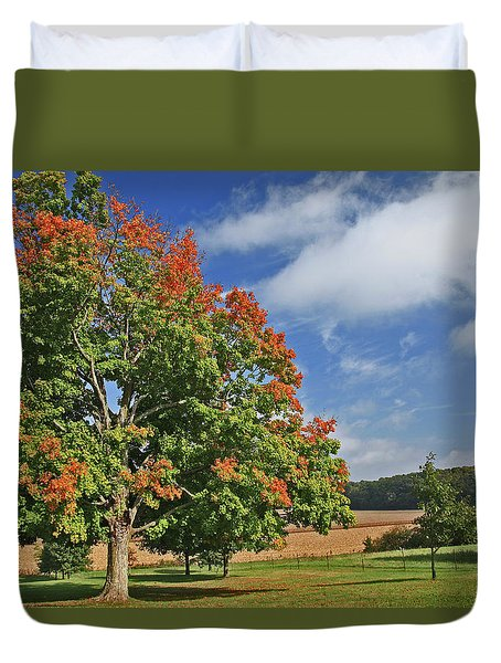Rolling Farmland Duvet Cover