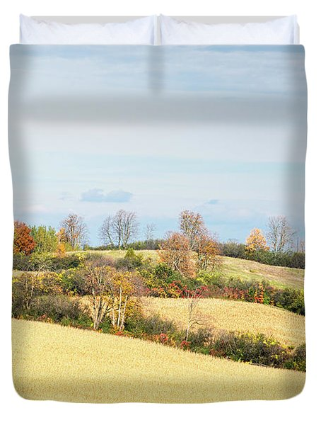 Rolling Hills In Fall Duvet Cover