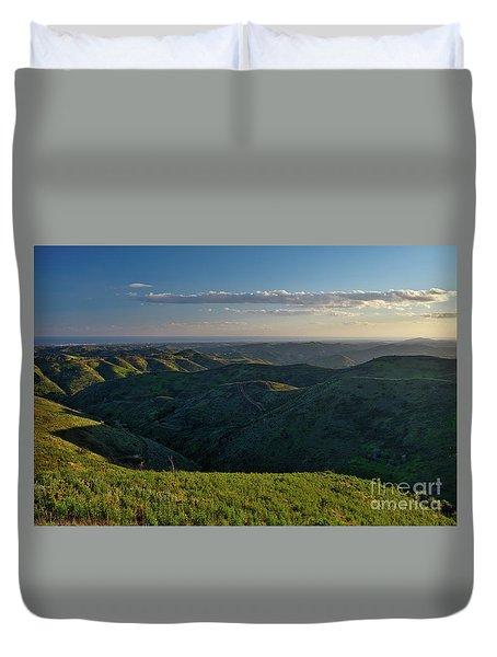 Rolling Mountain - Algarve Duvet Cover