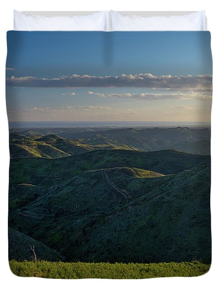 Rolling Mountain - Algarve Duvet Cover