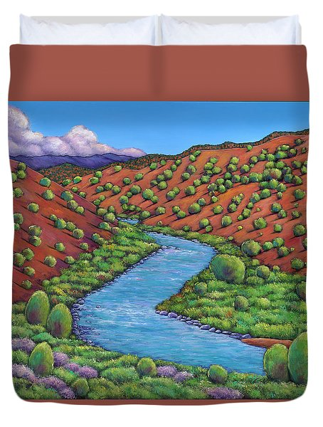 Rolling Rio Grande Duvet Cover